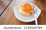 breads and desserts made of egg ... | Shutterstock . vector #1128169784