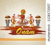 happy onam celebration... | Shutterstock .eps vector #1128173507