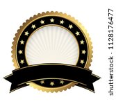 button template gold and black... | Shutterstock .eps vector #1128176477