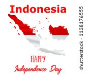 17 august  indonesia... | Shutterstock .eps vector #1128176555