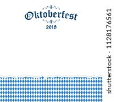 oktoberfest background with... | Shutterstock .eps vector #1128176561