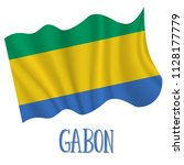 17 august  gabon independence... | Shutterstock .eps vector #1128177779