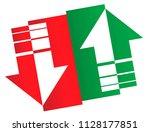stock market logo. simple up...   Shutterstock .eps vector #1128177851