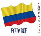 10 august  ecuador independence ... | Shutterstock .eps vector #1128178415