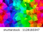 multicolor vector polygonal... | Shutterstock .eps vector #1128183347