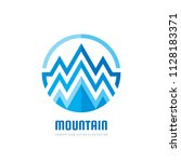mountain   vector logo template ... | Shutterstock .eps vector #1128183371