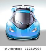 blue sports car | Shutterstock .eps vector #112819039