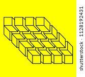 optical illusion  geometric... | Shutterstock .eps vector #1128192431