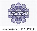 blue rosette  money style... | Shutterstock .eps vector #1128197114