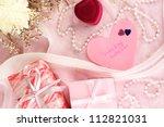 wedding invitations on...   Shutterstock . vector #112821031