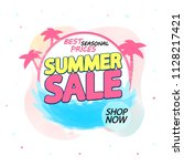 summer sale  banner design... | Shutterstock .eps vector #1128217421