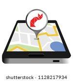 pet care in screen of mobile... | Shutterstock .eps vector #1128217934