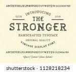 original handmade alphabet.... | Shutterstock .eps vector #1128218234