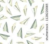 watercolor semless pattern.... | Shutterstock . vector #1128220085