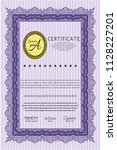 violet diploma template or... | Shutterstock .eps vector #1128227201