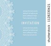 invitation or card templates...   Shutterstock .eps vector #1128230621
