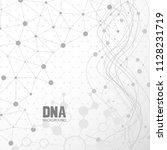 bottom structure. molecular and ... | Shutterstock .eps vector #1128231719