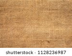 brown sackcloth texture. or... | Shutterstock . vector #1128236987