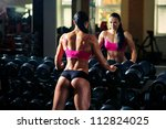 athlete dumbbell row | Shutterstock . vector #112824025