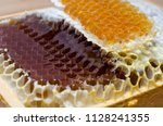 honeycomb full of honey   Shutterstock . vector #1128241355
