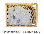 frame honeycomb full of honey   Shutterstock . vector #1128241379