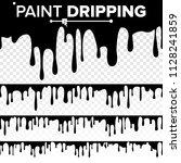 paint dripping liquid vector.... | Shutterstock .eps vector #1128241859