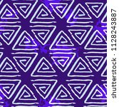 abstract pattern of triangles.... | Shutterstock .eps vector #1128243887