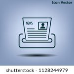 newspaper  press  news vector...   Shutterstock .eps vector #1128244979