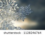 ice crystal background | Shutterstock . vector #1128246764