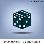 cubes for the game vector icon.   Shutterstock .eps vector #1128248015