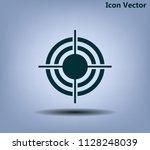 target vector icon | Shutterstock .eps vector #1128248039