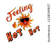 feeling hot hot with abstract... | Shutterstock .eps vector #1128249827