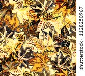 seamless autumn pattern with... | Shutterstock .eps vector #1128250967