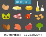 ketogenic keto diet food vector ... | Shutterstock .eps vector #1128252044