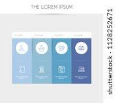 set of 8 editable hygiene icons ... | Shutterstock . vector #1128252671