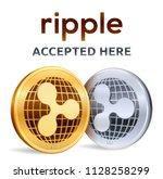 ripple. accepted sign emblem....   Shutterstock .eps vector #1128258299