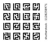 set or square maze icons...