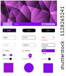 light purple vector web ui kit...