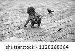 charming child. photo closeup... | Shutterstock . vector #1128268364