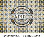 expired arabesque style badge.... | Shutterstock .eps vector #1128282245
