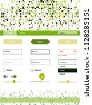 light green  yellow vector web...