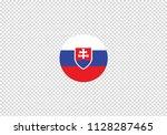 slovakia national flag set... | Shutterstock .eps vector #1128287465