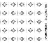 seamless geometric ornamental... | Shutterstock .eps vector #1128288401