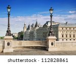 the conciergerie seen from the...   Shutterstock . vector #112828861