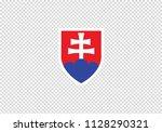 slovakia national flag symbol... | Shutterstock .eps vector #1128290321