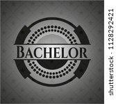 bachelor realistic black emblem   Shutterstock .eps vector #1128292421