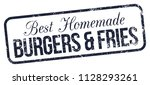 burgers and fries. vector...   Shutterstock .eps vector #1128293261