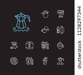 tea icons set. takeaway tea and ...