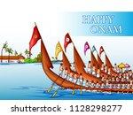 vector design of boat race... | Shutterstock .eps vector #1128298277