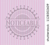 noticeable badge with pink... | Shutterstock .eps vector #1128302609